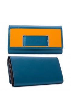 GELDTASCHE - blau/gelb