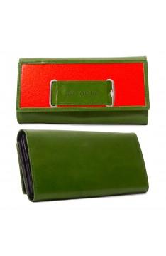 GELDTASCHE - grün/orange